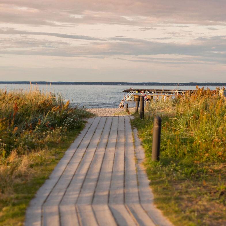 Båstad strandspång till Skansenbadet