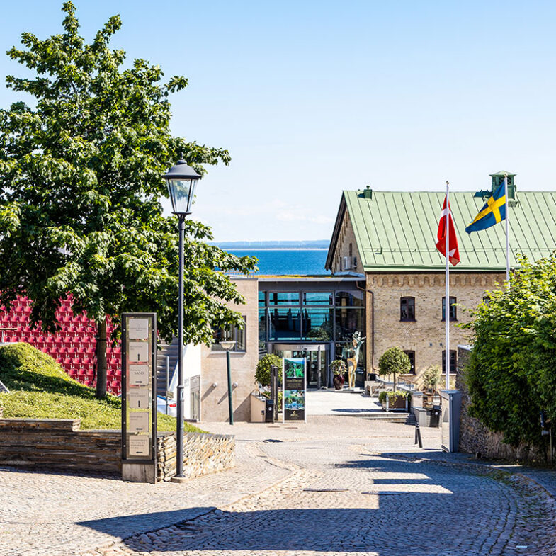 Exteriörbild Hotel Skansen huvudentré och reception