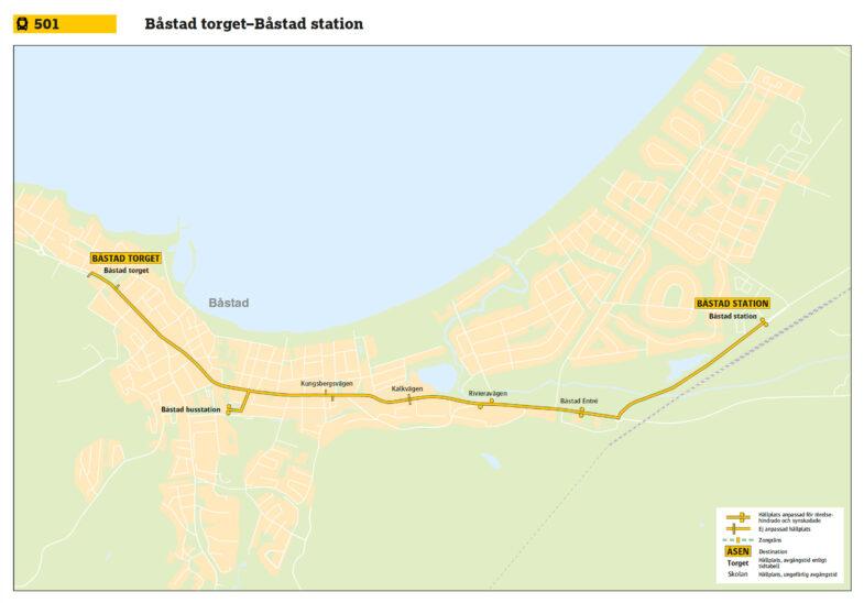 karta buss 501 båstad torget station