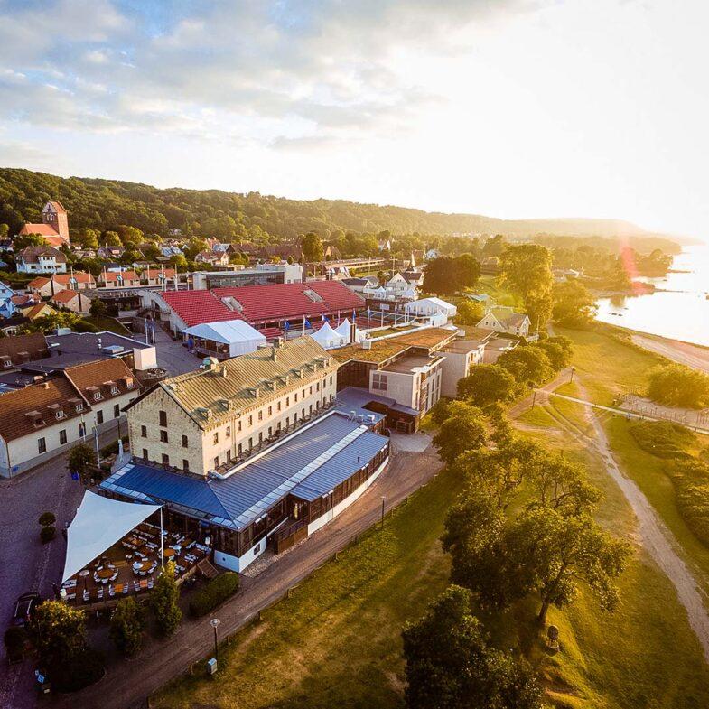 Flygbild av Hotel Skansen