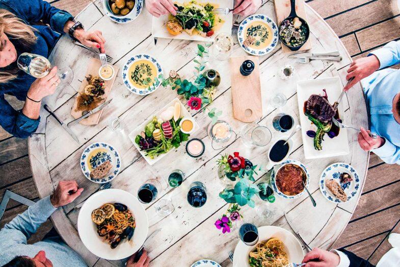 Matbord på Papas i Båstad