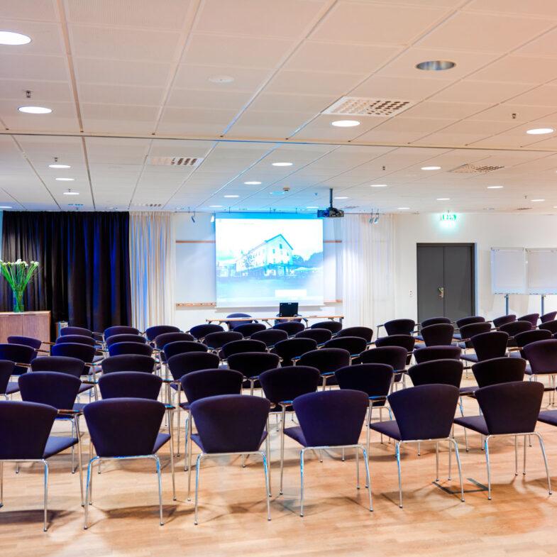 Biosittning i konferenslokalen Båstad på Hotel Skansen